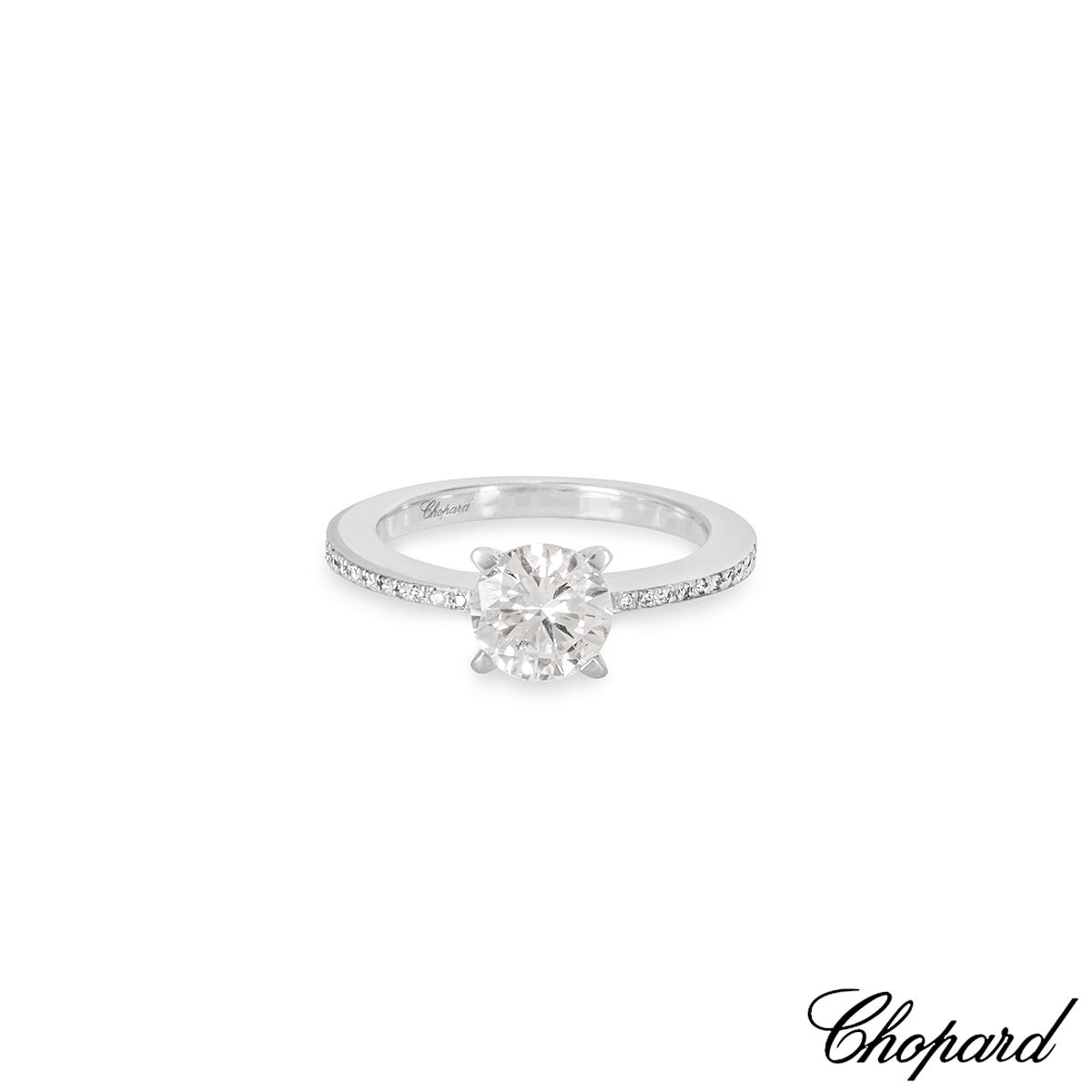 Chopard White Gold Diamond Ring 1.01ct D/VS2